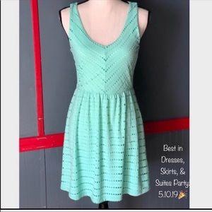 Gianni Bini Mint Cut Out Fit & Flare Dress - M
